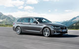 BMW 530i Touring 2020 facelift official images - tracking front