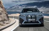 96 BMW iX prototype ride 2021 road nose
