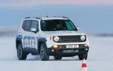 GKN Jeep Renegade eAWD prototype 2020 drive - cone