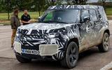 2020 Land Rover Defender prototype ride - Matt Saunders speaking front