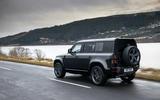 96 Land Rover Defender V8 2021 official images 110 tracking rear