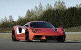 Lotus Evija development car at Hethel - front static