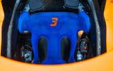 96 McLaren Racing sustainability feature seat