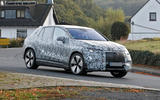 96 Mercedes EQE SUV spies Oct 2021 on road front