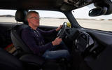 Mini Cooper SE prototype drive 2019 - Richard Bremner driving
