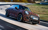 Mini JCW GPE prototype official images - tracking front