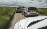 96 PHEV wagons triple test 2021 tracking trio rear