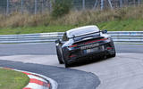 Porsche 911 GT3 prototype at Nurburgring - track rear