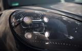 Porsche Macan prototype 2018 disguised DRL lights