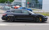 Porsche Taycan Cross turismo spy images - side
