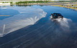 Porsche Taycan breaks electric drift record - official images - circuit