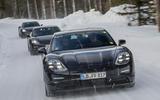 Porsche Taycan prototype ride 2019 - convoy