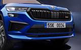 96 Skoda Kodiaq VRS 2021 official images nose