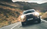 Aston Martin DBX 2020 prototype drive - on the road headlights