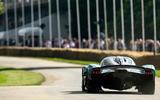 97 Aston Martin Valkyrie Goodwood passenger ride hero rear