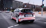 97 Audi Q4 Etron 2021 prototype drive hero rear