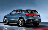 Audi Q4 E-tron electric SUV Geneva 2019 official press images - hero rear