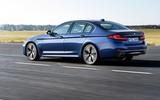 BMW 530e 2020 facelift official images - tracking rear
