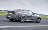 97 BMW i4 2021 prototype drive hero rear