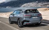 97 BMW iX prototype ride 2021 hero rear