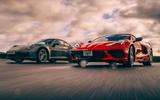 Corvette C8 vs Porsche 911 UK - cornering