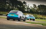 97 EV track day llandow 2021 feature duo rear
