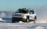 GKN Jeep Renegade eAWD prototype 2020 drive - snow