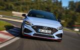 Hyundai i30 N 2020 facelift official images - track nose
