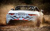 Jaguar F-Type rally car 2019 driven hero rear