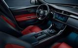 Jaguar XF Chequered Flag Edition interior