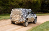 2020 Land Rover Defender prototype ride - hero rear