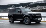 97 Land Rover Defender V8 2021 official images 90 tracking front