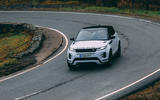 Land Rover Range Rover Evoque 2019 first ride review - cornering front