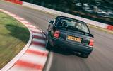 Lotus Carlton at 30 - tracking rear