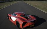 Lotus Evija development car at Hethel - rear static