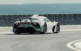 Mercedes-AMG One official camouflaged tracking images - cornering rear