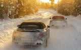 97 Mercedes AMG SL prototype official winter testing pair rear