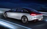 97 Mercedes Benz all electric plans official EQS rear