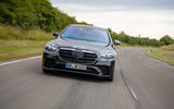 2020 Mercedes-Benz S-Class prototype ride - on the road nose