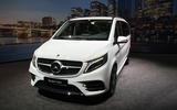 Mercedes-Benz V-Class 2019 reveal - nose (white)