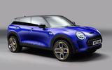 97 Mini SUV render by Autocar 2021 blue