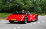 Morgan Plus 8 road test rewind - hero rear