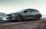 Peugeot 508 PSE estate official images - tracking front