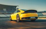 2019 Porsche 911 Carrera S track drive - hero rear