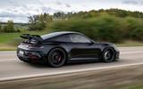 Porsche 911 GT3 2021 passenger ride - hero rear