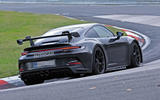 Porsche 911 GT3 prototype at Nurburgring - track side rear