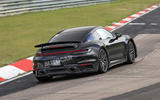 97 Porsche 911 hybrid spy images 2021 rear