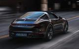 Porsche 911 Targa 992 official images - tracking rear