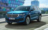 97 Skoda Kodiaq MY2021 facelift LandK official images tracking front