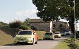 2020 Skoda Octavia prototype camouflaged drive - convoy front